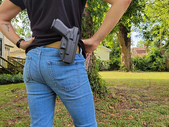 Alice with the WTP OWB Holster